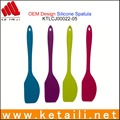 FDA silicone grade cake spatula with stainless steel personalized silicone spatula