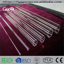 Very long clear quartz glass pipe from guoyi quartz company