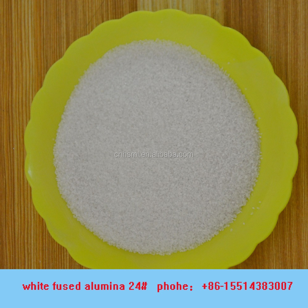 99.55% white fused alumina 24# for abrasive blasting steel