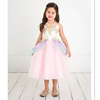 lavender unicorn ruffle A-line dress - toddler & girls kids party dresses wholesale