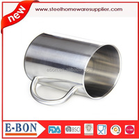 double wall sanding finished stainless steel cup