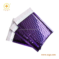 Purple Foil Metallic Bubble Mailers Padded Mailing Bag For Posting Jewelry\Watches\Novelties\Audio CDS