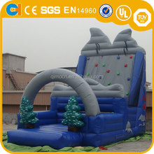Top Sell Inflatable Snow Mountain Climbing, inflatable climbing game, inflatable wall climbing game for kids
