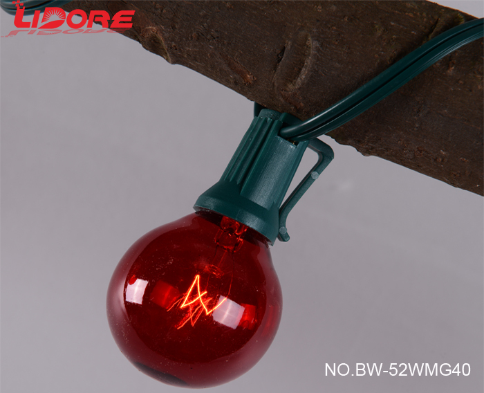 LIDORE E12 G40 decoration globe string light