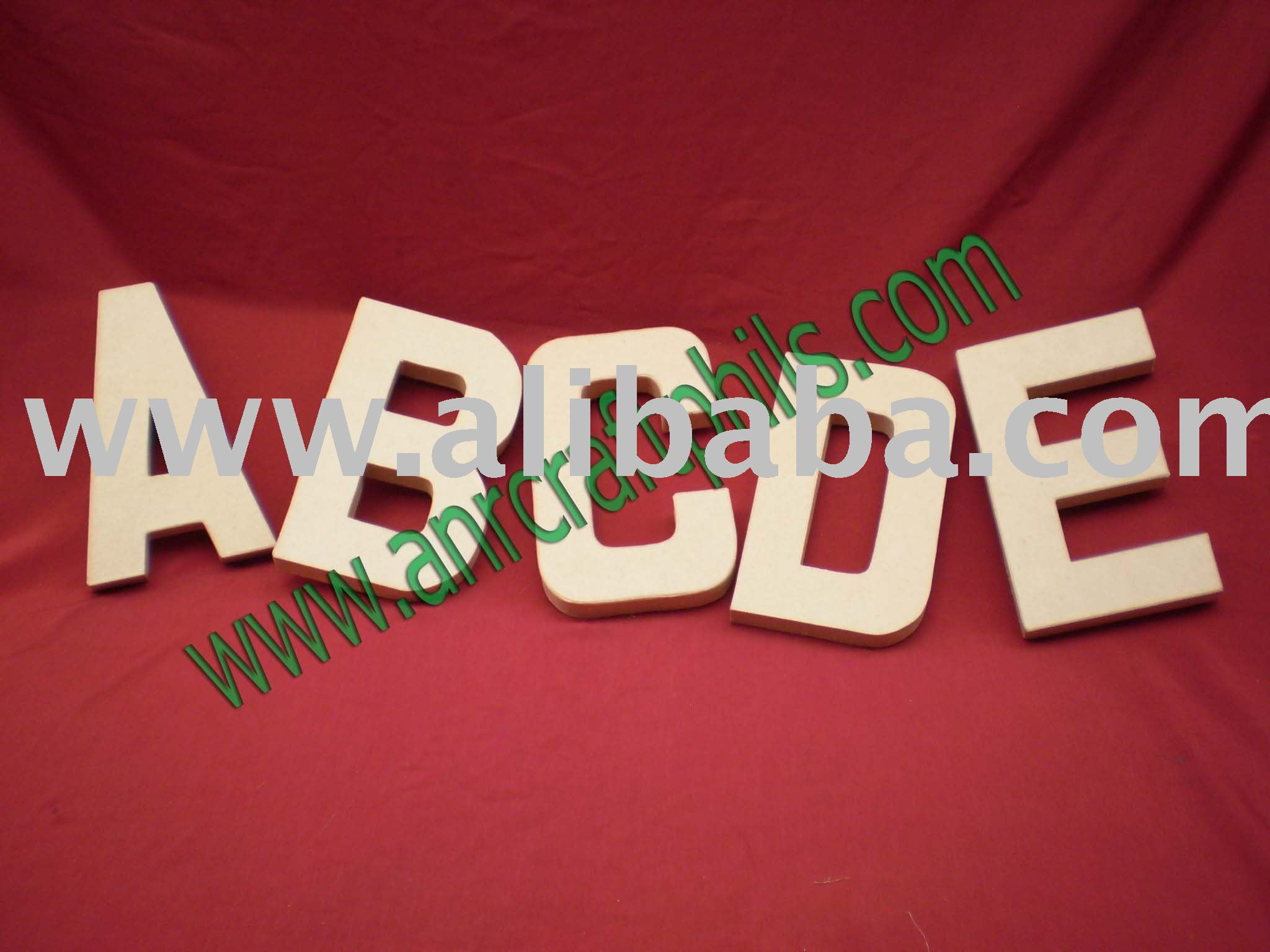 Paper Mache Craft Alphabets