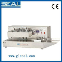 plastic film continuous heat band sealer with date coding/ pp bag sealing machine