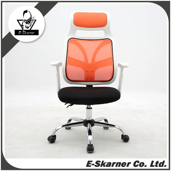 E-Skarner transparent and high-intensitive orange office mesh chair