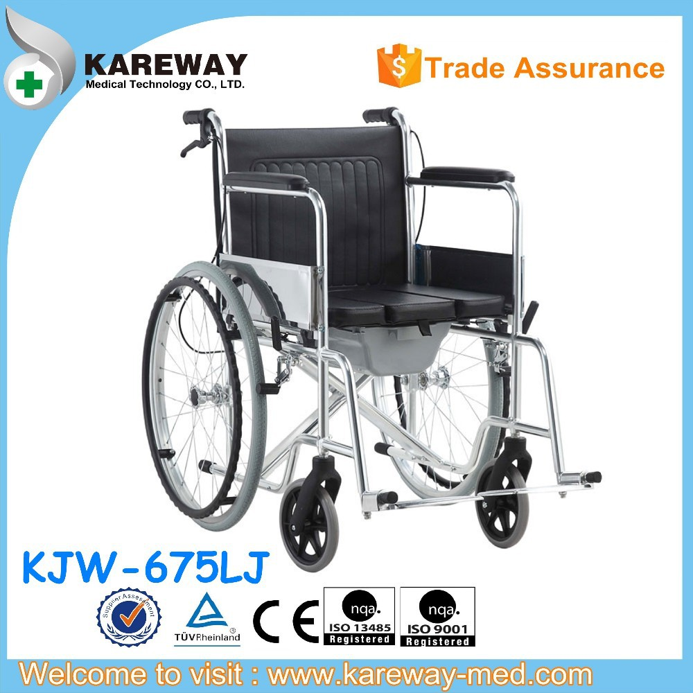 Easy folding commode wheelchair,aluminum commode wheelchair,aluminum manual wheelchair