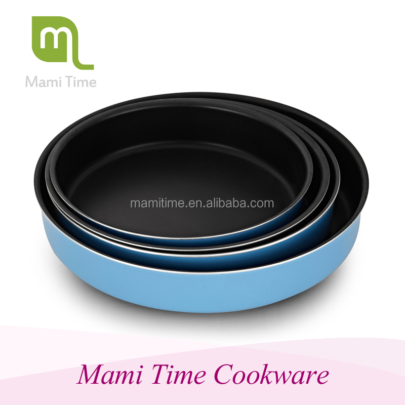 2015 hot sale pot cute aluminum nonstick bakeware set with high quality