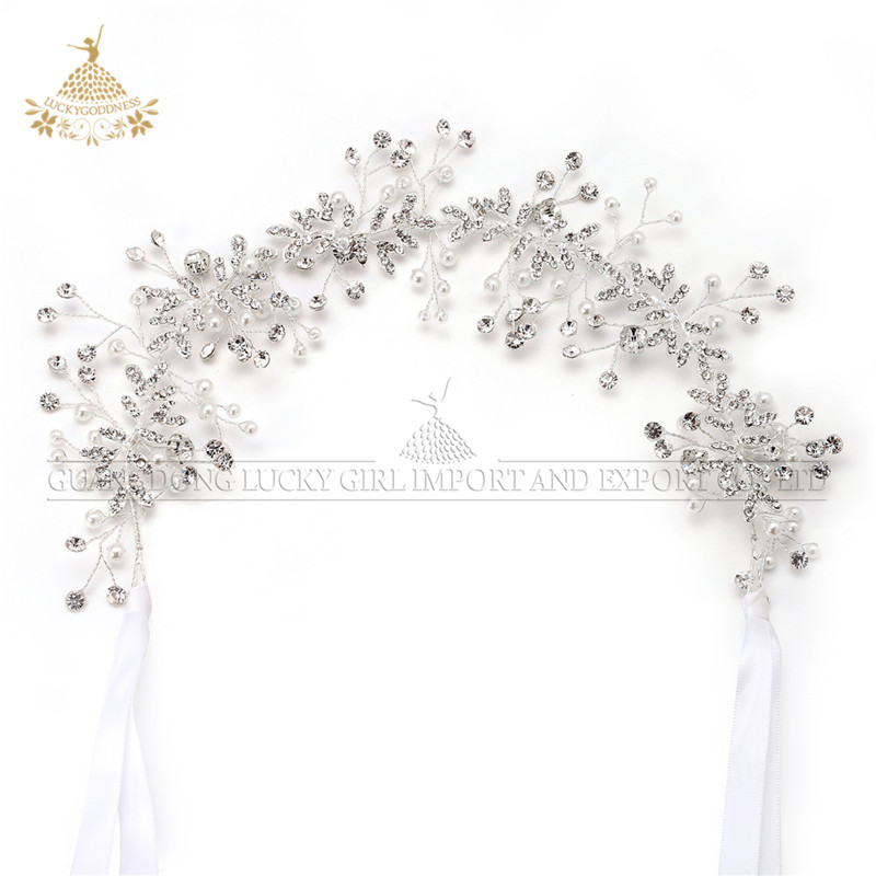 Fashionable Crystal Headband Wedding Bridal Hair Accessories Metal Headbands Princess Tiaras <strong>Crown</strong>