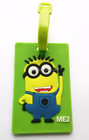 Cartoon Funny Letter Printed PVC Luggage Tag Wholesale Shaped Rubber Travel Bag tag