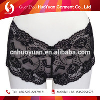 Hot Sexy black lady lace lingerie underwear adult sex toys for women underwear of cotton elasti Huoyuan factory