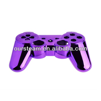 wireless chrome controller accessories gamepad joypad housing case for ps3 golden
