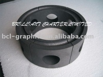 Machined parts with fine grain graphite mould