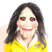 Latex Scary Halloween Zombie Ghost Mask with Hair