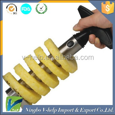 Easy Kitchen Tool Stainless Steel Fruit Pineapple Corer Slicer Cutter Peeler