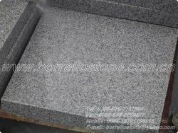 Dark grey granite flamed brushed