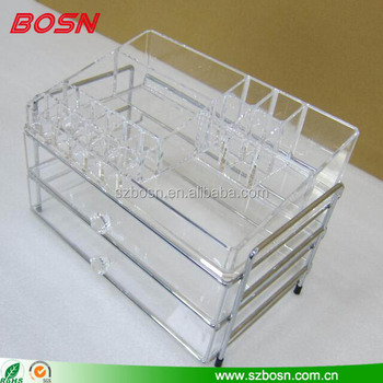 Countertop Acrylic cosmetic display organizer drawers