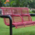 Creative stainless steel metal outdoor garden/ park bench frame for sale