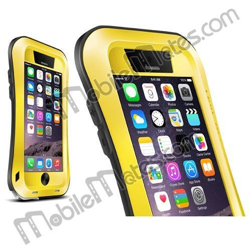 LOVE MEI Small Waist Aluminum Waterproof Case for iPhone 6, Love Mei Metal Protective Shockproof Case Cover for iPhone 6