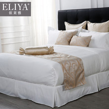400tc plain white embroidered wholesale china cheap 5 star hotel bed linen set and beautial