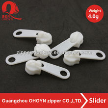 Newest popular white locking plastic zipper slider