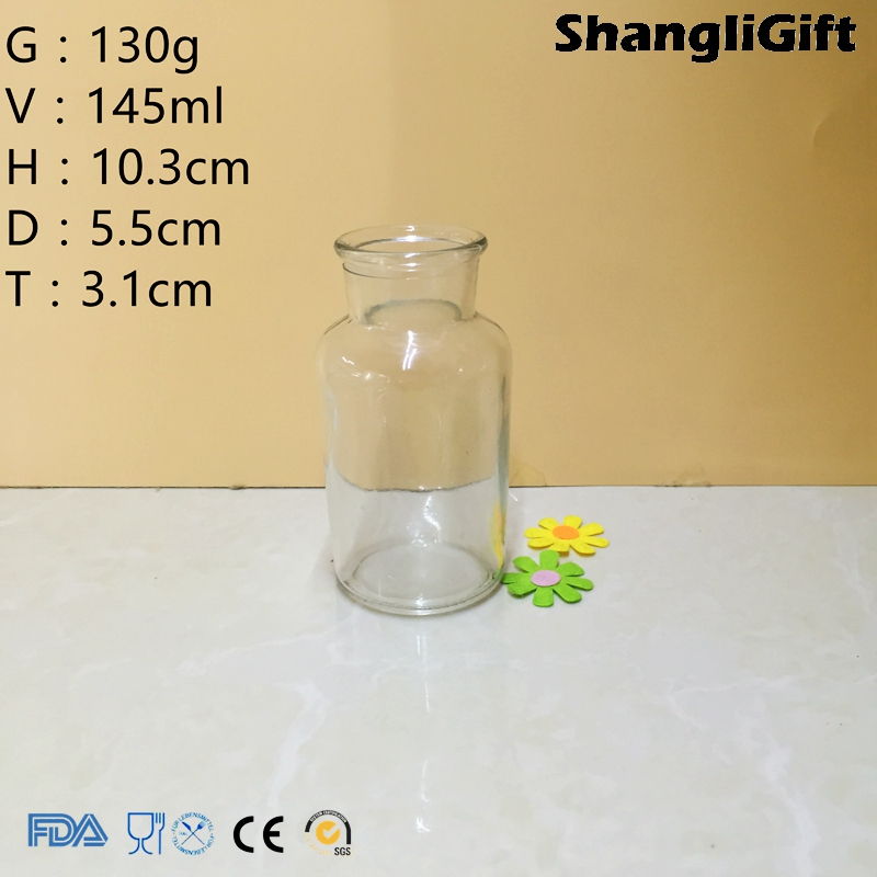145ml Reagent Bottle Wide Mouth 5oz Glass Bottle With Frost Stopper