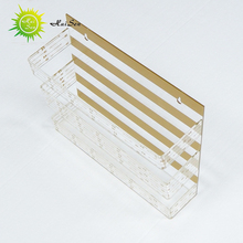 golden clear acrylic document display holder magzine high quality transparent document holder