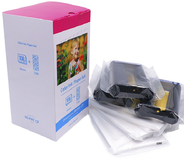 compatible for canon selphy kp-108in 260g photo paper for canon cp1200 printer