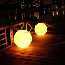 Rechargeable rgb glow ball waterproof led ball for swimming pool