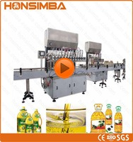 100-10000ml fully automatic piston type small bottle vegetable oil filling machine