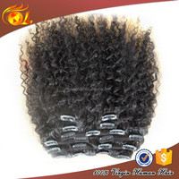 Top quality Most Popular humanhair afro kinky curly clip in hair extensions