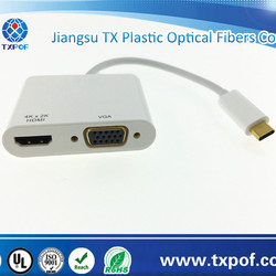 Type C USB connector to HDMI VGA converter adapter
