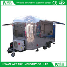 Good quality mobile coffee trailer street food kiosk cart for sale
