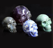 price of colorful natural rock crystal stone skulls wholesale