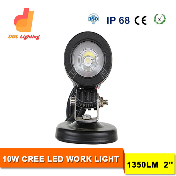 2016 New product 10w led work light waterproof IP 68 offroad led car spotlights for Jeep all cars