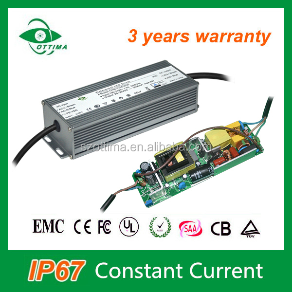 85-280Vac waterproof constant current electronic 80W led driver 2400ma ce