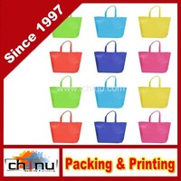 Pack Assorted Colors Non-woven Reusable Kids Carrying Shopping Grocery Tote Bag for Party Favor (920076)
