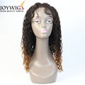 Hot,new design10A jerry curly T color Glueless Indian Human Hair Full Lace Wig