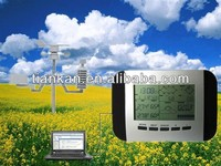 WS1041 Professional rf 433mhz wireless weather station clock with solar power and PC interface