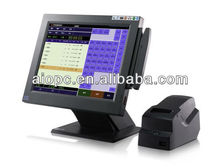 15inch restaurant LCD pos terminal with Magnetic Card Reader/thermal printer