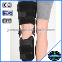 semi-rigid frame ROM motion control flexion hinge knee brace