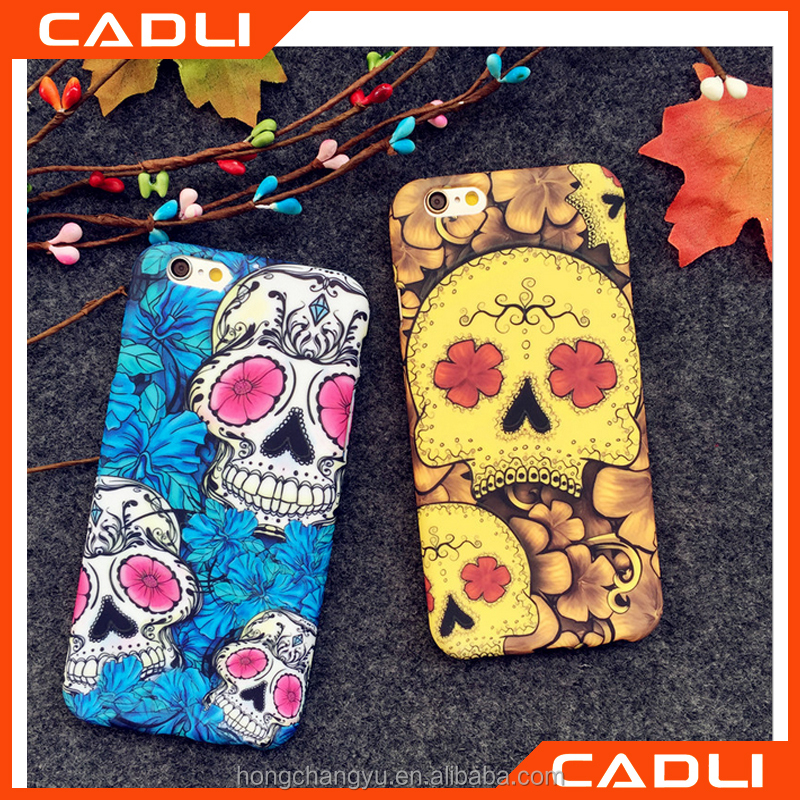 New Hard PC Cover 3D Relief Printed Full cover with Flowers Phone Case for Apple iPhone 6 6s