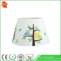 lovely active children natural trees blue red birds barrel interior bedroom lamp