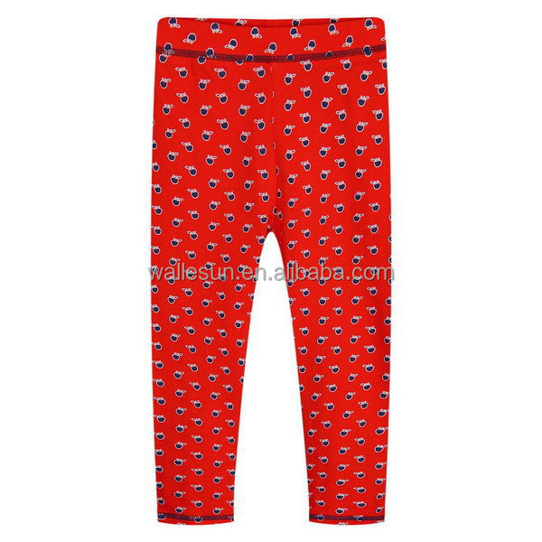 girl trousers legging kids pants with ruffles