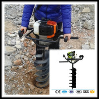 New 52cc gasoline earth auger or single Tree planting digging machine or gasoline post hole digger with CE