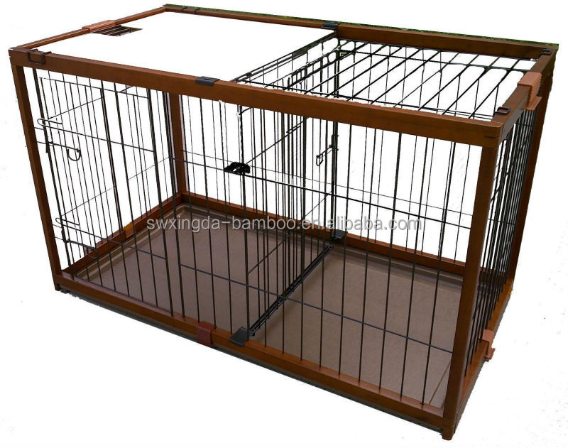 2014 Wholesale bamboo pet dog cages