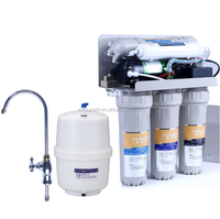 5 stage Household Drinking Water Filter Purifier RO System for home use with dust proof case display TDS