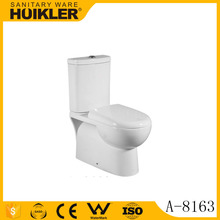Chinese bathroom sanitary ware one piece ivory color ceramic toilet A-8163