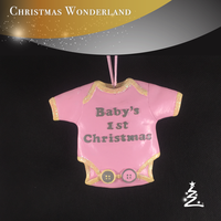 hanging christmas tree christmas Resin baby the first Clothes